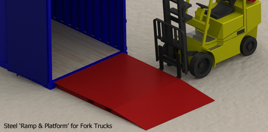 Ground Level Container Access Ramps